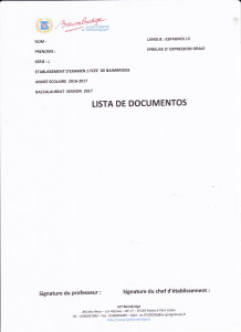 lista de documentos TL2