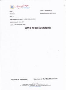 lista de documentos TL2